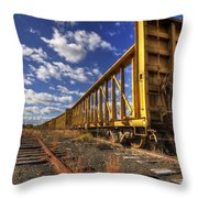 Portsmouth Rail Cars Throw Pillow