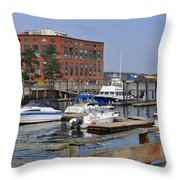 Portsmouth Waterfront Pwp Throw Pillow