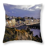Portstewart, Co Derry, Ireland Seaside Throw Pillow
