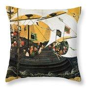Portuguese Galleon Throw Pillow