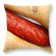 Portuguese Typical Sausages Throw Pillow