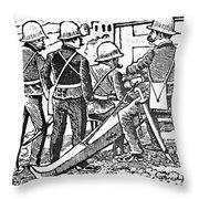Posada: The Artillerymen Throw Pillow