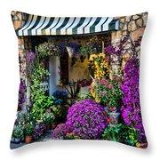 Positano Flower Shop Throw Pillow