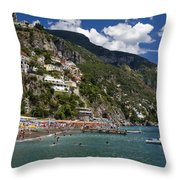 Positano Seaside Throw Pillow