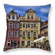 Posnan Shops - Poland Throw Pillow