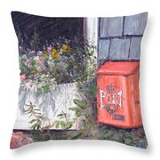 Post Box Throw Pillow