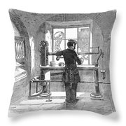 Post Office, 1856 Throw Pillow