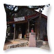 Post Office In Luckenbach Texas Throw Pillow
