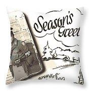 Postcard From War Throw Pillow