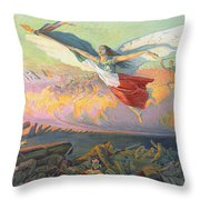 Poster For The National Loan Throw Pillow by Michel Richard-Putz
