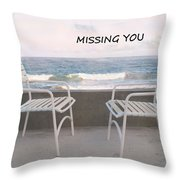 Poster Missing You Throw Pillow