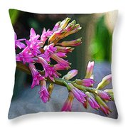 Posteredged Flowers Throw Pillow