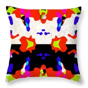 Postive And Negative Space Throw Pillow