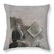 Postmark Budapest Throw Pillow