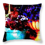 Pot Culture 2 Throw Pillow by Ankeeta Bansal