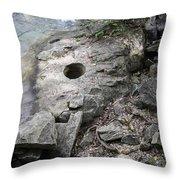 Pot Hole In Niagara River Throw Pillow