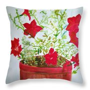 Pot Of Flowers Two Throw Pillow