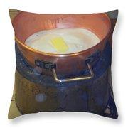 Pot Of Gold Caramel Throw Pillow