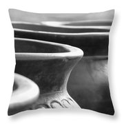 Pots In Black And White Throw Pillow