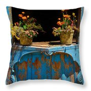 Pots Over Peeling Paint Throw Pillow