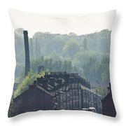 Potteries Urban Landscape Throw Pillow