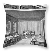 Pottery, 18th Century Throw Pillow