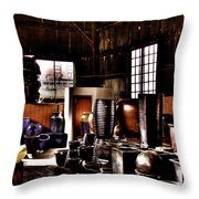 Pottery Storage Building II Throw Pillow