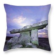 Poulnabrone Dolmen, The Burren, Co Throw Pillow