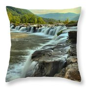 Pouring Over Sandstone Throw Pillow
