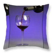 Pouring Wine Throw Pillow