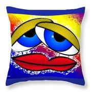 Pout Throw Pillow