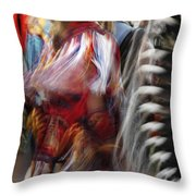 Pow Wow Dancer Throw Pillow