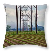 Power And Plants II Throw Pillow
