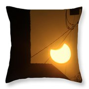 Power Eclipse Throw Pillow