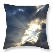 Power Of Light Throw Pillow