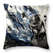 Power Of Prayer With Hasid Reading And Hebrew Letters Rising In A Spiritual Swirl Up To Heaven Throw Pillow