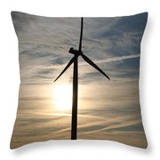 Power To The Sun Throw Pillow