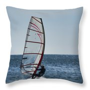 Powered By Wind Throw Pillow
