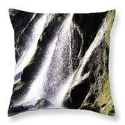 Powerscourt Waterfall, Co Wicklow Throw Pillow