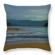 Powlett River Inlet On A Stormy Morning Throw Pillow