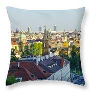 Prague And St Charles Bridge Throw Pillow