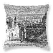 Prague: Castle Stairs Throw Pillow