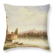 Prague Czechoslovakia Throw Pillow