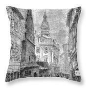 Prague: Jewish City Hall Throw Pillow