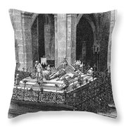 Prague: Royal Tombs Throw Pillow