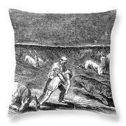 Prairie Fire, 1844 Throw Pillow