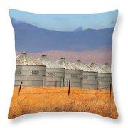 Prairie Silos Throw Pillow