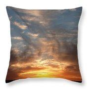Prairie Sunset No1 Throw Pillow