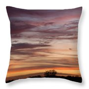 Prairie Sunset No3 Throw Pillow