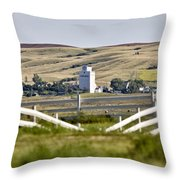 Prairie Town With Elevator Throw Pillow